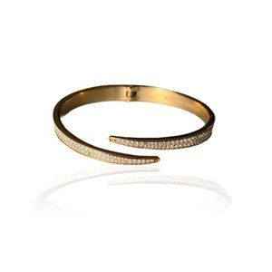 Authentic MICHAEL KORS Rose Gold Pave Bangle